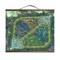 LOL map poster cho HD canvas poster sơn trang trí với gỗ rắn treo di chuyển