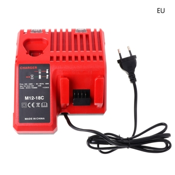 цена на M12-18C Li-ion Battery Charger For Milwaukee 10.8V 12V 14.4V 18V M12 M18 US/EU Dls