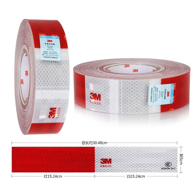 Car Reflective Stickers Warning Strip Truck Auto Supplies Night Driving Safety Red White Sticker Automobile Reflective Sticker