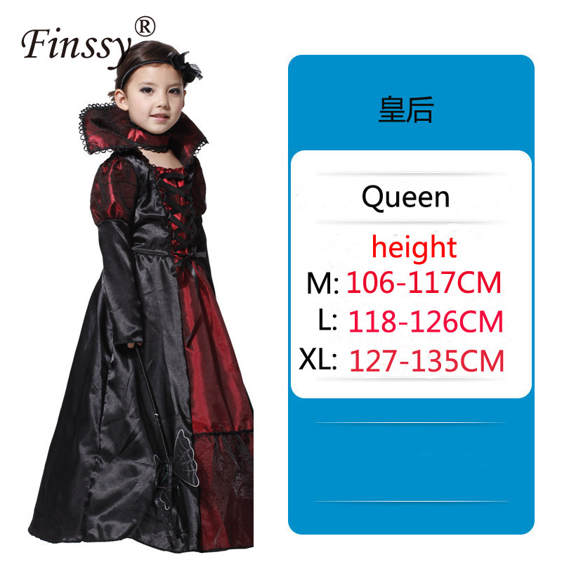 Dark Queen Cosplay Clothing Stage Drama Performance Costume Props Halloween Carnival Party Masquerade Costume Princess Dress