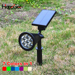 HoozGee 7 LED Solar Garden Lig