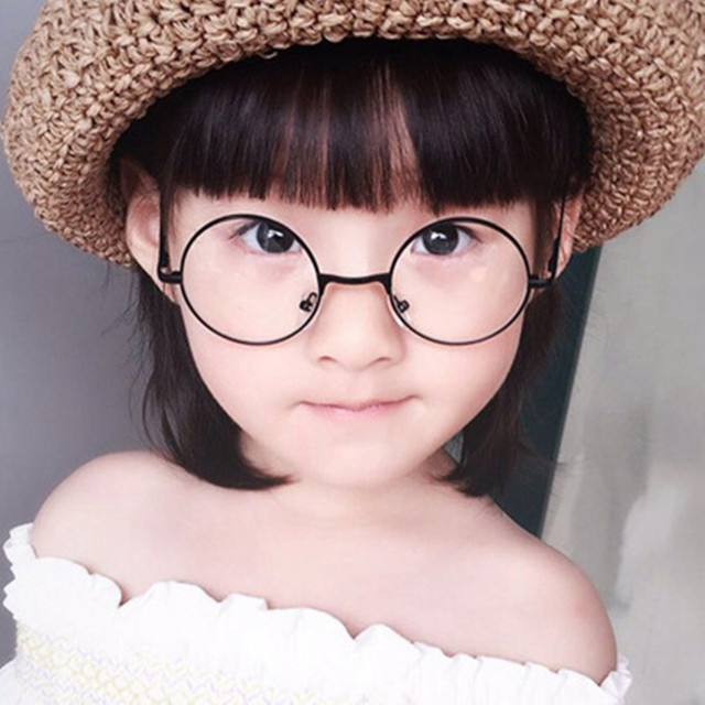 0c5770cc597 2018 Fashion Round Children Glasses Frame Baby Boys Girls Eyeglasses Frame  Vintage Kids Clear Lens Optical Spectacle 2-12 old