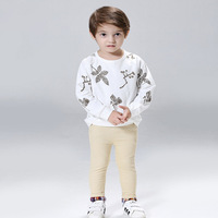 Summer Autumn Boys Clothes 2 8 Years British Style Toddler Boys Clothing Set 2016 Baby Summer