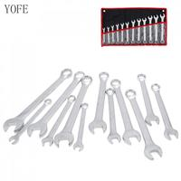 12pcs 8mm 19mm Combination Spanner Set Ratchet Wrench Tool for Installation / Maintenance