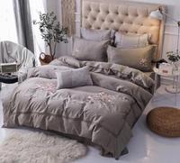 Bedding Set Egyptian Long Stapled Luxury Cotton Bed Set Embroidery Queen King Size Duvet Cover Set Bed Sheet 4 styles