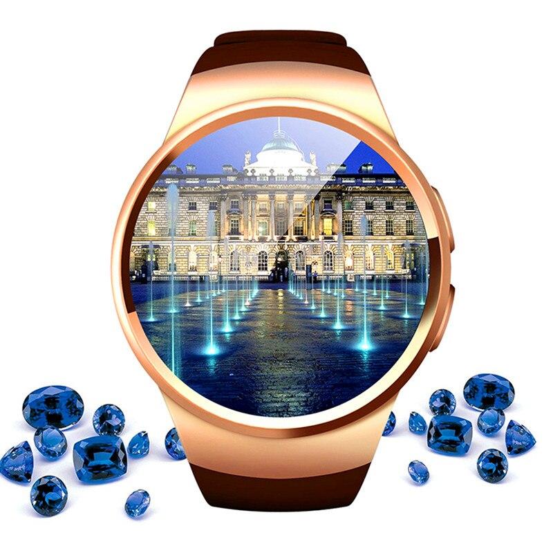 imágenes para Alta tecnología smart watch reloj conectado para samsung huawei xiaomi smartphones android apoyo sincronización de llamadas messager smartwach