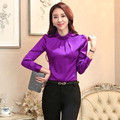 Novelty Purple Long Sleeve Spring Autumn Formal Uniform Styles Slim Fashion Business Women Blouses & Shirts Female Tops Blusa