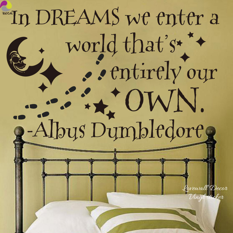 In Dream Harry Potter Albus Dumbledore Quote Wall Sticker ...