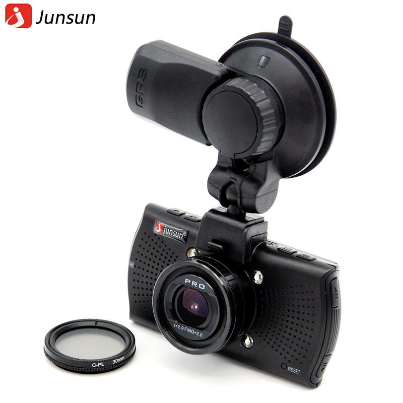 Prix pour Junsun top ambarella a12 voiture dvr caméra fhd 2560*1440 p gps enregistreur vidéo enregistreur dashcam greffier dvr cpl filtre polarisant