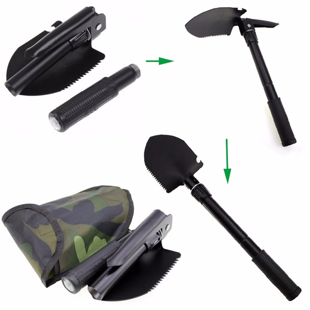 Multifunctional Sapper Shovel Survival Portable Military Folding Camping Spade Chinese Military Shovel Emergency Tool