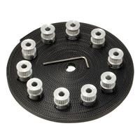 MTGATHER 10pcs 20Teeth GT2 Timing Pulley Bore 5mm 10m 33ft 2GT GT2 Timing Belt 6mm Wide