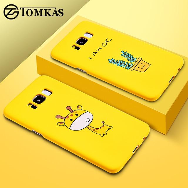 TOMKAS Cute Cartoon Giraffe Plant Case for Samsung Galaxy S8 S9 Plus Yellow Back Cover Case for Samsung Galaxy Note 9 Coque