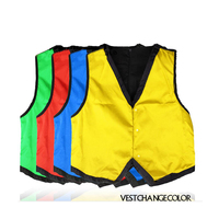 Vest Discolor Stage Magic Tricks Props Toys Professional Magician Easy Doing