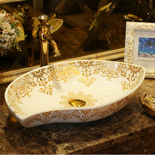 ceramic stage wash basin sanitary ware art bathroom basin retro style palace fish free shipping