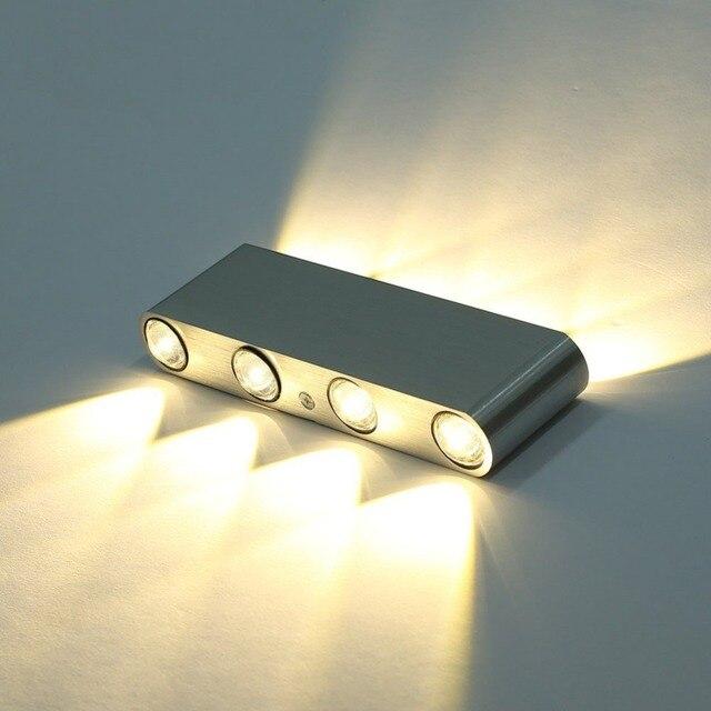 modern rectangle led 8w wall sconces light fixture aluminum high