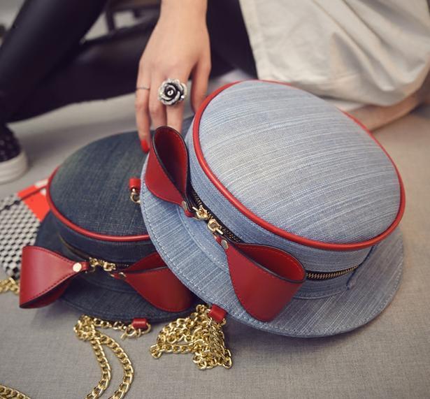 2018 новая сумка Шапка Зимняя мода мешок цепи корейский одного плеча сумка личности