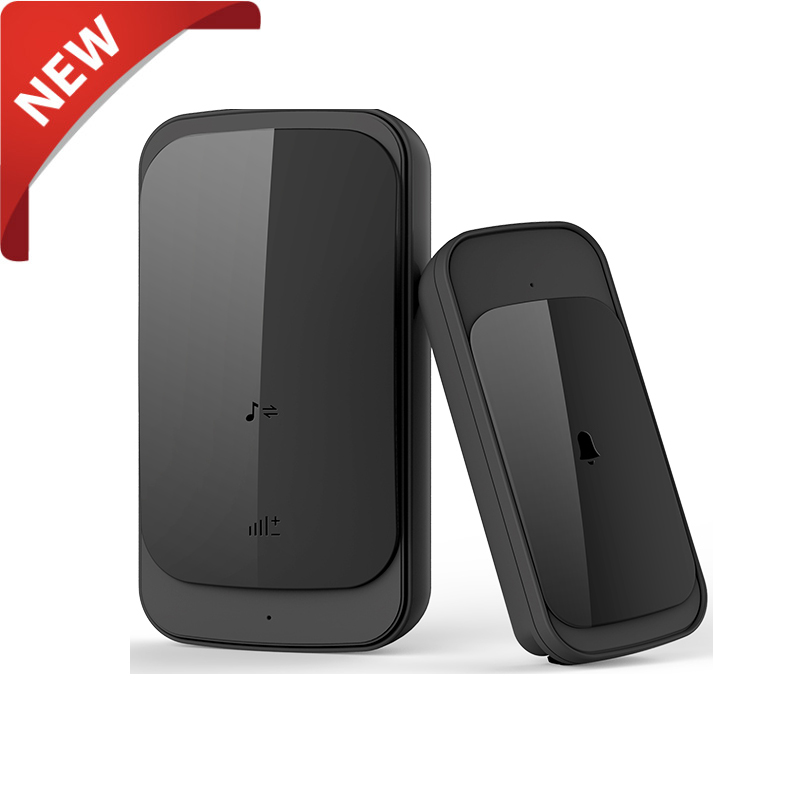 newest black smart bell wireless doorbell bell for dogs waterproof doorbell with touch pad. Black Bedroom Furniture Sets. Home Design Ideas
