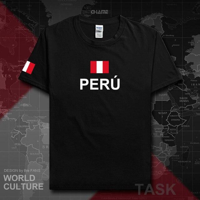 Перу перуанские мужские футболки мода 2017 Джерси хип-хоп нации хлопковая футболка для встречи фитнеса брендовая одежда тройник флаг страны ...