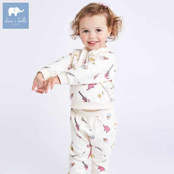DB7021 dave bella spring baby girls clothing sets kids print suit children toddle outfits high quality clothes - DISCOUNT ITEM  50% OFF All Category