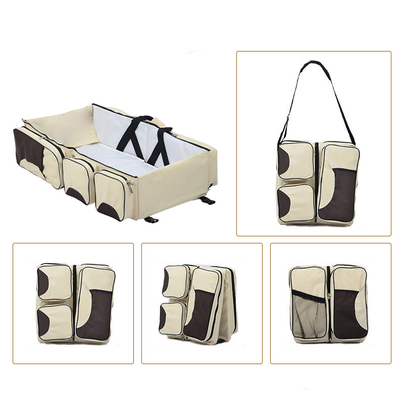цена на Travel Two Use Multifunction Portable Foldable Baby Crib Changing Diapers Mummy Pack For Newborns Baby