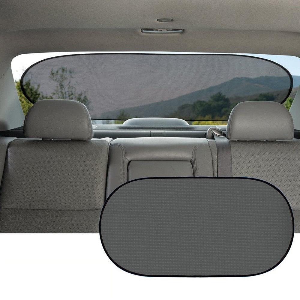Авто заднее стекло автомобиля Солнцезащитная шторка крышка козырек сетчатый экран УФ Блок защита с 4 шт. присоска летняя Солнечная защита