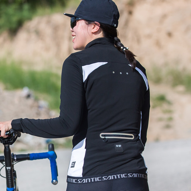 bebc7282c Santic Women Outdoor Cycling Jackets Pro Fit SANTIC WARM+ Fabric Cycling  Fleece Jackets Coats Thermal Jackets Keep Warm L7C01081-in Cycling Jackets  ...