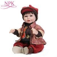 50 см Bebes Reborn Dolls de Silicone Девочка Хлопок тело Спящая кукла реборн кукла игрушки для девочек новорожденная кукла ребенок лучшие подарки