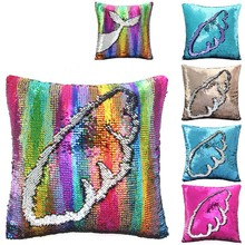Icosy Decorative Cushion Cover Mermaid Pillow Case Covers Reversible Throw Pillowcases Home Decor Drop Shipping New