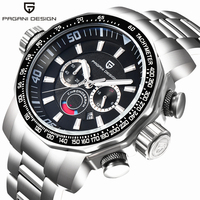 2016 Pagani Design Military Men Watches Luxury Brand Full Stainless Steel Big Dial Sports Watch Men