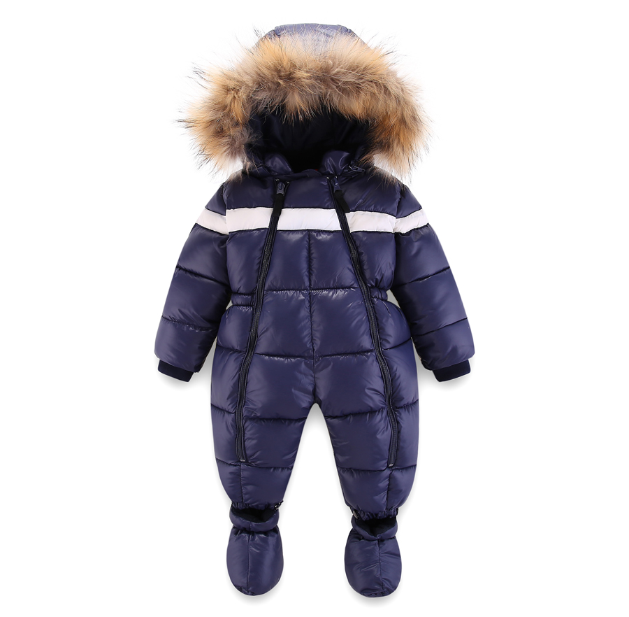 New Winter Warm Snowsuit 2018 Boy Baby Jacket Down Cotton Outdoor Infant Clothes Girls Climbing For Boys Kids Jumpsuit 1-3Y