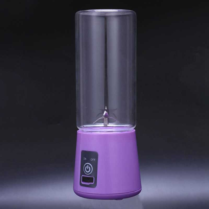 Licuadora de jugo portátil de 420Ml taza exprimidora USB multifunción mezcladora de frutas 4 hojas mezcladora batidos de alimentos para bebés
