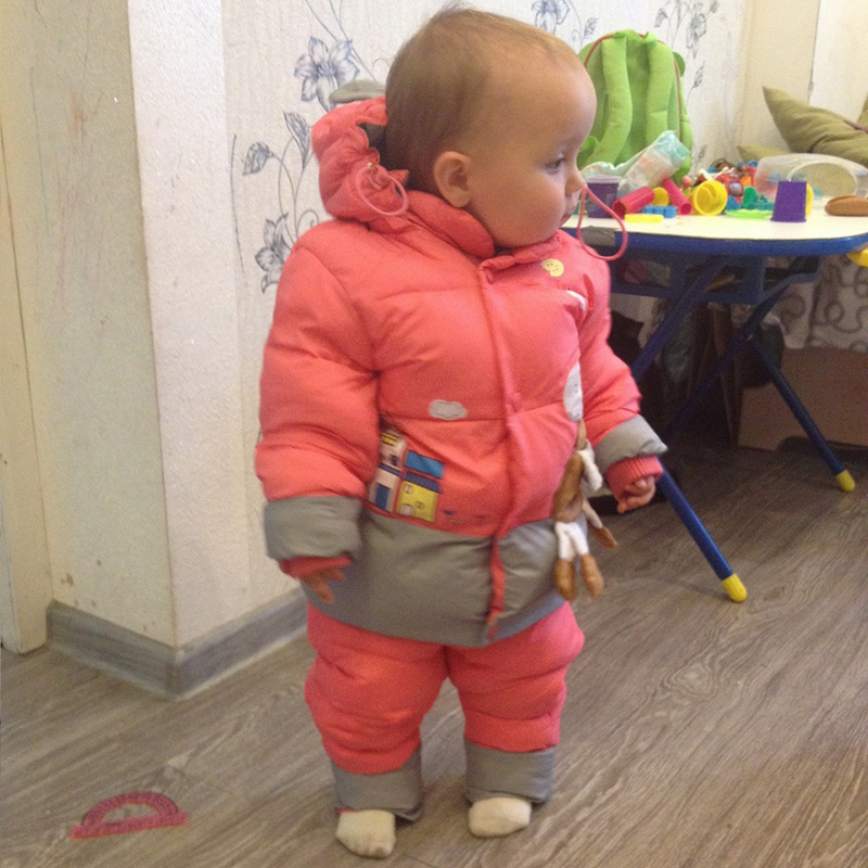 NEW 2015 winter children clothing sets duck down jacket sets pants-jacket hooded baby girls winter jacket & coat Pony pattern 1