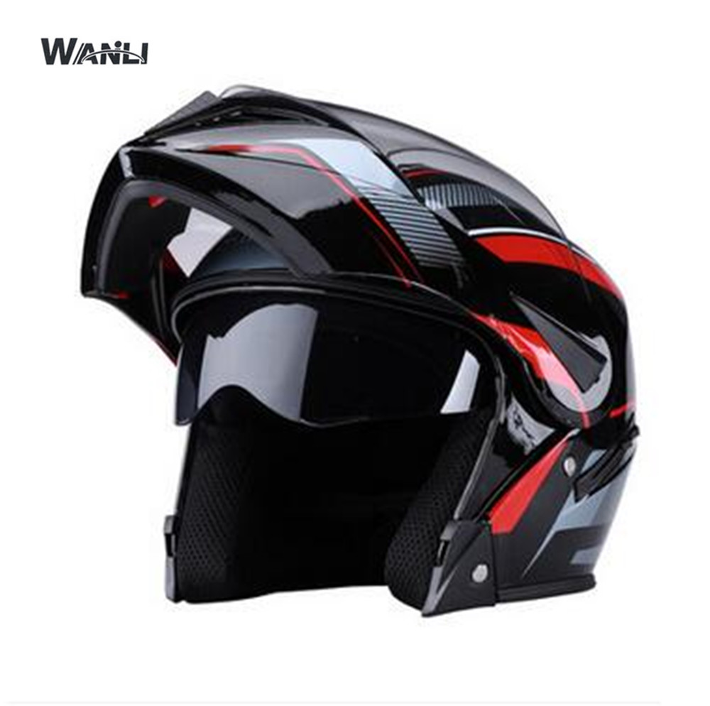 Motorcycle Helmet FLIP UP Helmet Motorbike Motorcross Full Face Helmet Capacete Cascos Para Moto Racing Helmet