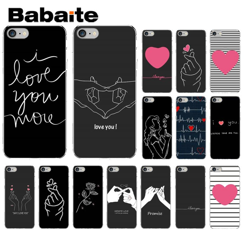 Babaite EXO <font><b>kpop</b></font> Heart Drawing Love on the finger Pull hook Soft Phone <font><b>Case</b></font> for <font><b>iPhone</b></font> 6S 6plus 7 7plus 8 8Plus X Xs MAX 5 5S XR image