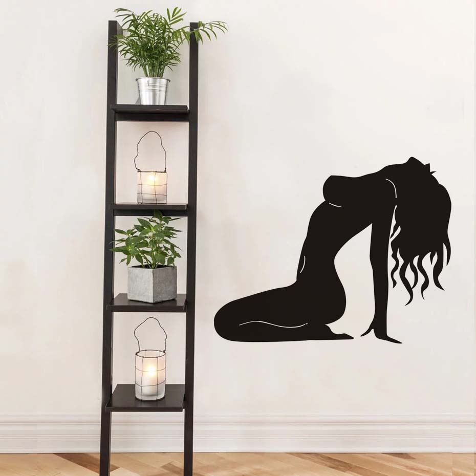 Naked Sex Lady Pose Decals Modern Wall Sticker For Girl Bedroom Wall Art Murals Home Decor Waterproof Removable Vinyl Wallpaper (6)