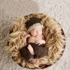 Newborn Baby Boy Girl First Birthday Picture Photography Props Crochet Hat+Pants Outfits Infant Baby Photo Shoot Props Clothes