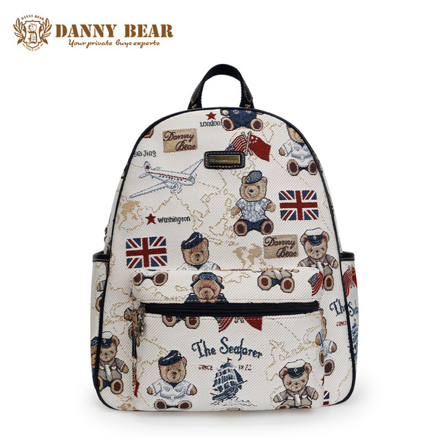 DANNY BEAR Cheap White School Backpacks For Teenagers Fashion ...