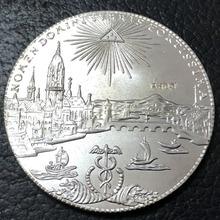 1772 бесплатно Императорский город во франте 1 приложение немецкий посеребренный копия монеты