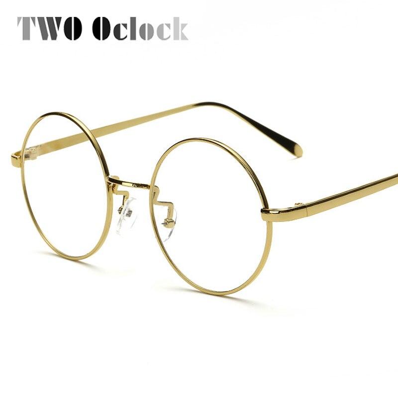ZWEI Oclock Mode Gold Metallrahmen Brillen Für Frauen Weibliche ...