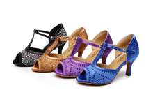Satin latin dancing font b shoes b font women s rhinestone font b shoes b font