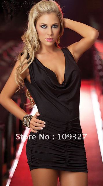 hot sale party dress  New Style for santa Bright stretch lycra white sexy Tight skirt Lingerie underwear dress+G-string