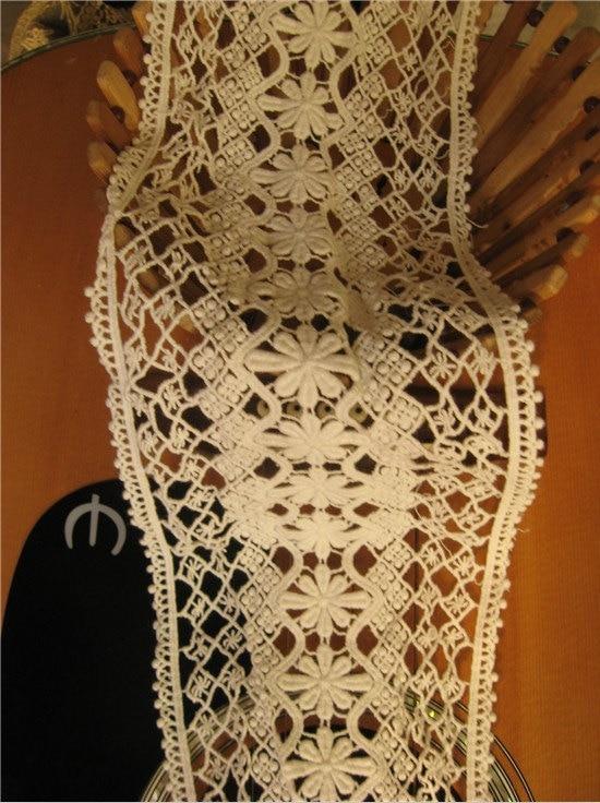 ٩(^‿^)۶Off Blanco Encaje ajuste del cordón del algodón, antiguo ...