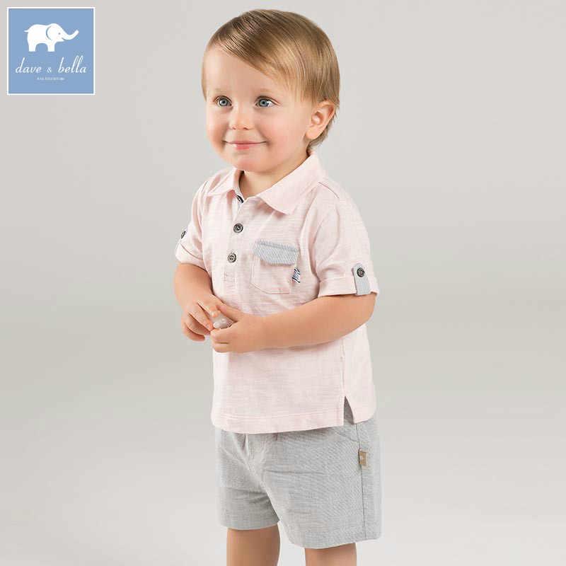 02ef872d7b3a DB7233 dave bella summer baby boys pink clothing sets children infant  toddler suit kid s high quality