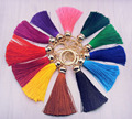 New fashion Tassel Key Chain women Cute Tassel KeyChain bag accessory - Silk Tassels Car Key ring fringe jewelry #16022