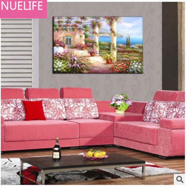 Three dimensional frameless painting living room bedroom wall ...