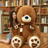 LOVE bear toys for children we bare bears soft stuffed animals kawaii plush teddy bear birthday gift for girlfriend Teddy