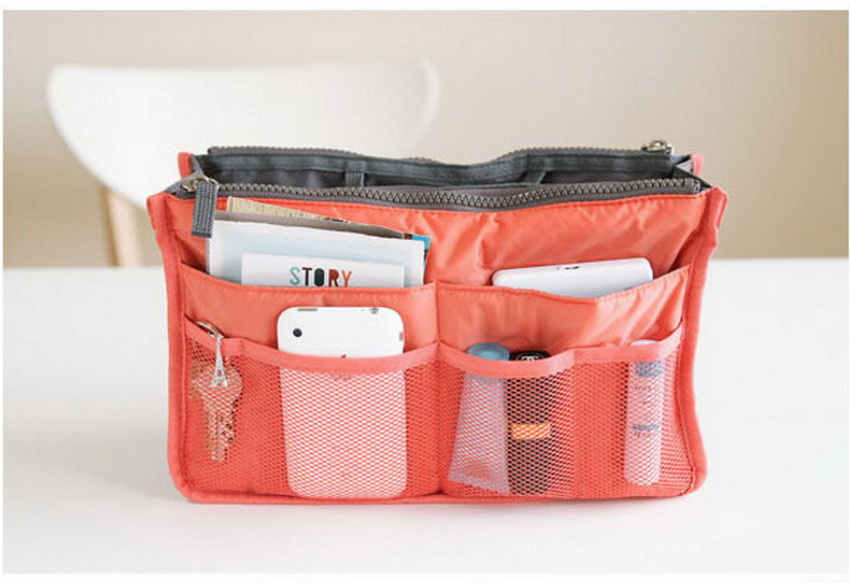 SIKOTE Double zipper Cosmetic Bags Makeup Bag Women Travel Organizer Professional Storag ...