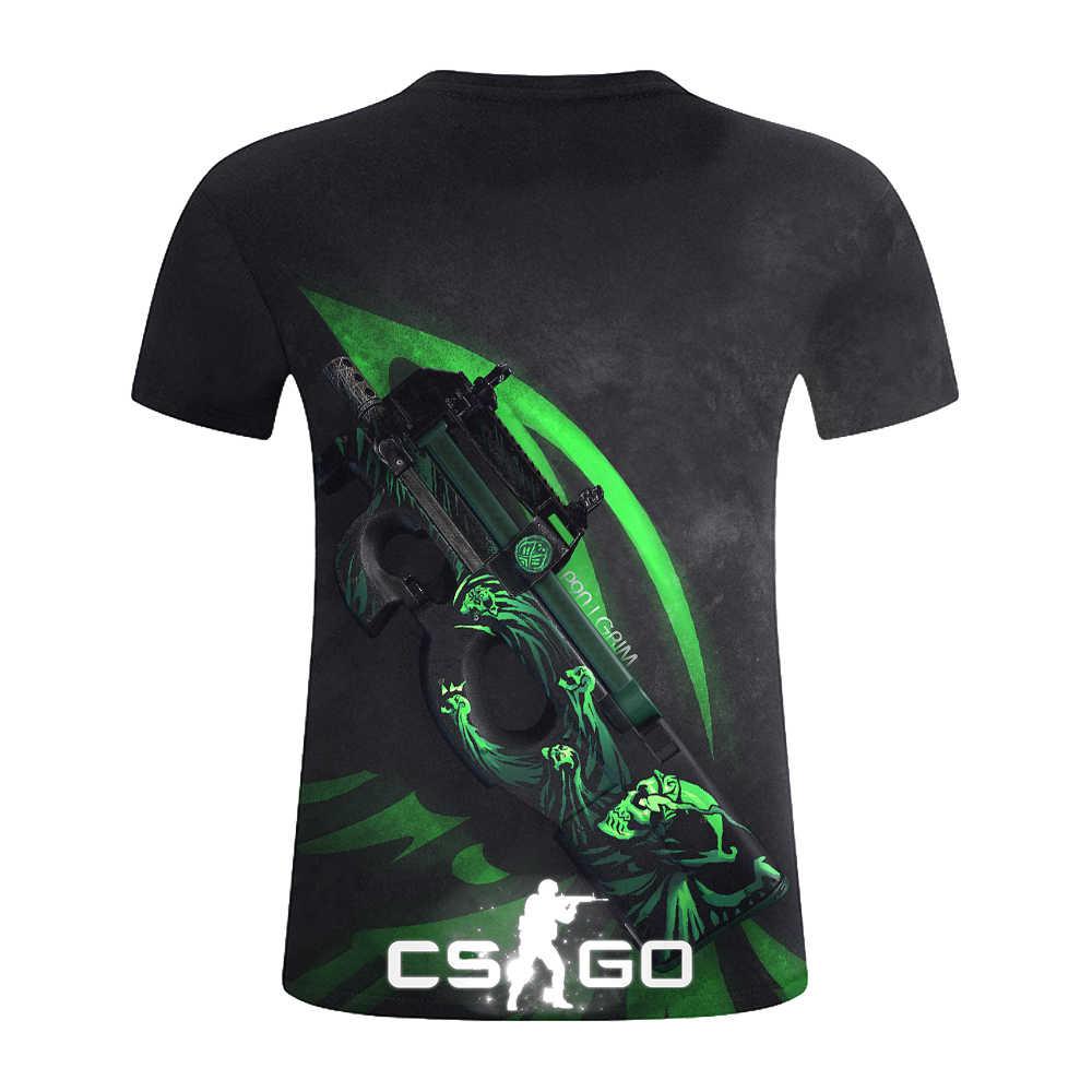 CS GO Gamer футболка 2019 Горячая счетчик Strike Global offension CSGO Мужская футболка наивысшего качества брендовая одежда забавная 3D футболка