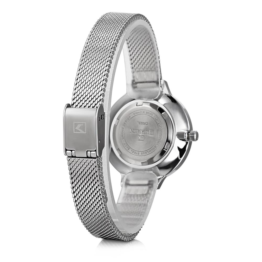 hot fashion quartz watch for women casual ladies watch free shipping waterproof elegant golden steel mesh band (20)