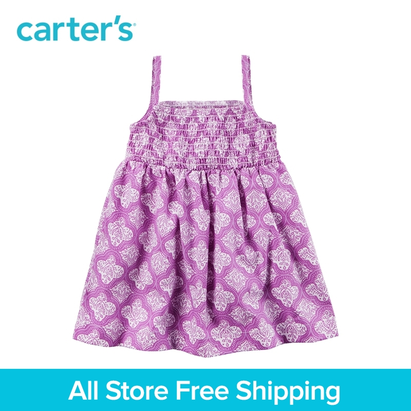 Carter's 1pcs baby children kids Geo Print Smocked Dress 118H306,sold by Carter's China official store v neckline geo print dress